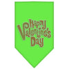 Doggy Stylz Dog-products New Pet Products Lime Green / Small Happy Valentines Day Rhinestone Bandana