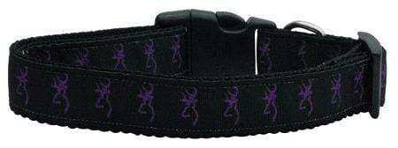 Doggy Stylz Dog-products Dog Collars And Leashes Medium Purple Deer Nylon Ribbon Dog Collars