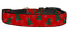 Doggy Stylz Dog-products Events & Holidays Medium Christmas Trees Nylon Dog Collar