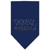 Doggy Stylz Dog-products Dog Bandanas Navy Blue / Large Trouble Maker Rhinestone Bandana