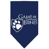 Doggy Stylz Dog-products General Navy Blue / Large Game Of Bones Screen Print Bandana