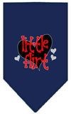 Doggy Stylz Dog-products New Navy Blue / Large Little Flirt Screen Print Bandana