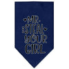 Doggy Stylz Dog-products New Navy Blue / Large Mr. Steal Your Girl Screen Print Bandana