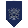 Doggy Stylz Dog-products Dog Bandanas Navy Blue / Small Fleur De Lis Shield Rhinestone Bandana