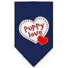 Doggy Stylz Dog-products Dog Bandanas Navy Blue / Small Puppy Love Screen Print Bandana