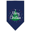 Doggy Stylz Dog-products Dog Bandanas Navy Blue / Small Scribble Merry Christmas Screen Print Bandana