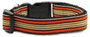 Doggy Stylz Dog-products Dog Collars And Leashes Orange/khaki / Large Preppy Stripes Nylon Ribbon Collars