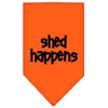 Doggy Stylz Dog-products Dog Bandanas Orange / Large Shed Happens Screen Print Bandana