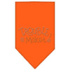 Doggy Stylz Dog-products Dog Bandanas Orange / Large Trouble Maker Rhinestone Bandana