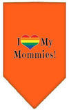 Doggy Stylz Dog-products New Orange / Large I Heart My Mommies Screen Print Bandana