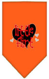 Doggy Stylz Dog-products New Orange / Large Little Flirt Screen Print Bandana