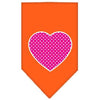 Doggy Stylz Dog-products New Pet Products Orange / Large Pink Swiss Dot Heart Screen Print Bandana