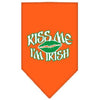 Doggy Stylz Dog-products Dog Bandanas Orange / Small Kiss Me I'm Irish Screen Print Bandana