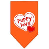 Doggy Stylz Dog-products Dog Bandanas Orange / Small Puppy Love Screen Print Bandana