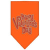 Doggy Stylz Dog-products New Pet Products Orange / Small Happy Valentines Day Rhinestone Bandana