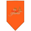 Doggy Stylz Dog-products New! Orange / Small Tis The Season To Sparkle Rhinestone Bandana
