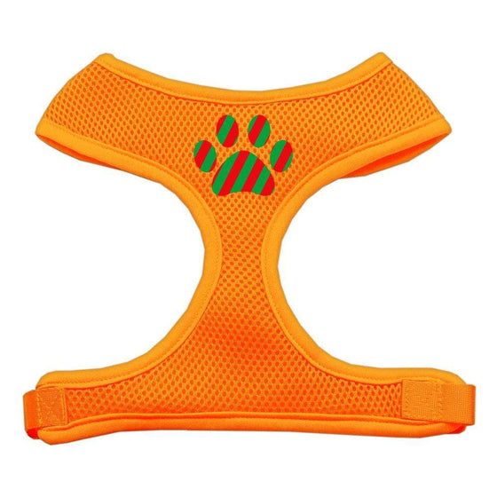 Doggy Stylz Dog-products Pet Harnesses Orange / Small Christmas Paw Screen Print Soft Mesh Harness
