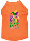 Doggy Stylz Dog-products New Orange / XXL Mardi Gras King Screen Print Mardi Gras Dog Shirt
