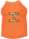 Doggy Stylz Dog-products New Orange / XXXL Love Is Love Screen Print Dog Shirt