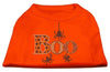 Doggy Stylz Dog-products New Pet Products Orange / XXXL Boo Rhinestone Dog Shirt