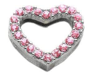 "Doggy Stylz Dog-products Pet Charms Pink 3/4"" Slider Heart Charm 3/4"" (18mm)"