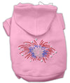 Doggy Stylz Dog-products Dog Hoodies Pink / Extra Large Fireworks Rhinestone Hoodie
