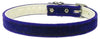 "Doggy Stylz Dog-products New Purple / 10 Velvet 3/8"" Plain Collar"
