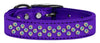 Doggy Stylz Dog-products New! Purple / 18 Sprinkles Ab Crystal Metallic Leather