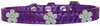Doggy Stylz Dog-products New Purple / 20 Silver Flower Widget Croc Dog Collar Size