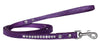 Doggy Stylz Dog-products New Purple / 4' Long Clear Jewel Croc Leash 1/2'' Wide X Long