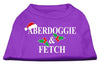 Doggy Stylz Dog-products New Pet Products Purple / Extra Large Aberdoggie Christmas Screen Print Shirt