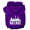 Doggy Stylz Dog-products Pet Apparel Purple / Extra Large Tokyo Skyline Screen Print Pet Hoodies Size