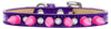 Doggy Stylz Dog-products New! Purple Ice Cream / 10 Crystal And Bright Pink Spikes Dog Collar Ice Cream Size