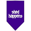 Doggy Stylz Dog-products Dog Bandanas Purple / Large Shed Happens Screen Print Bandana