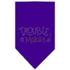 Doggy Stylz Dog-products Dog Bandanas Purple / Large Trouble Maker Rhinestone Bandana