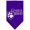 Doggy Stylz Dog-products General Purple / Large Game Of Bones Screen Print Bandana