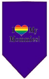 Doggy Stylz Dog-products New Purple / Large I Heart My Mommies Screen Print Bandana
