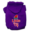 Doggy Stylz Dog-products New Purple / Large Little Elf Screen Print Dog Hoodie