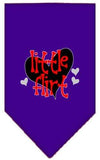 Doggy Stylz Dog-products New Purple / Large Little Flirt Screen Print Bandana