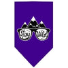 Doggy Stylz Dog-products New! Purple / Large Stay Wild Screen Print Bandana