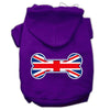Doggy Stylz Dog-products Pet Apparel Purple / Large Bone Shaped United Kingdom (union Jack) Flag Screen Print Pet Hoodies