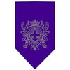 Doggy Stylz Dog-products Dog Bandanas Purple / Small Fleur De Lis Shield Rhinestone Bandana