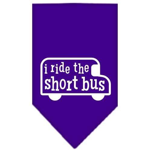 Doggy Stylz Dog-products Dog Bandanas Cocoa / Small I Ride The Short Bus Screen Print Bandana