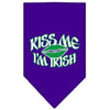 Doggy Stylz Dog-products Dog Bandanas Purple / Small Kiss Me I'm Irish Screen Print Bandana