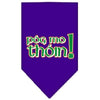 Doggy Stylz Dog-products Dog Bandanas Purple / Small Pog Mo Thoin Screen Print Bandana