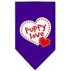 Doggy Stylz Dog-products Dog Bandanas Purple / Small Puppy Love Screen Print Bandana