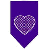 Doggy Stylz Dog-products Dog Bandanas Purple / Small Purple Swiss Dot Heart Screen Print Bandana