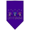 Doggy Stylz Dog-products Holiday Pet Products Purple / Small Let It Snow Penguins Rhinestone Bandana