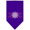 Doggy Stylz Dog-products Holiday Pet Products Purple / Small Pink Snowflake Swirls Screen Print Bandana