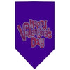 Doggy Stylz Dog-products New Pet Products Purple / Small Happy Valentines Day Rhinestone Bandana